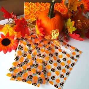 "CLEARANCE 20 Pcs Pumpkin Favor Bags 6.25""x9"""